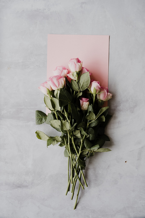 Pink or White Rose bouquet