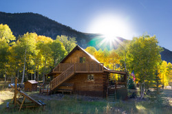 Sunset at Jaspers Lost Elk Lodge