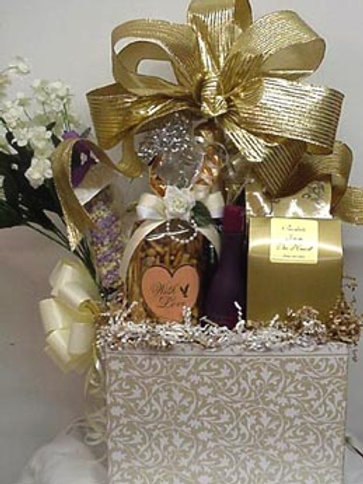 """Wedding Basket - """"Here's To Wedded Bliss"""""""