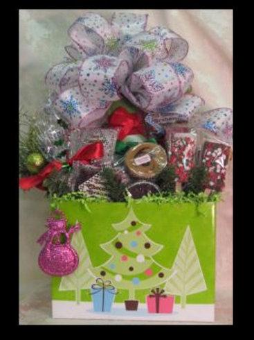 """Christmas Basket """"Christmas Trendy Trees"""""""