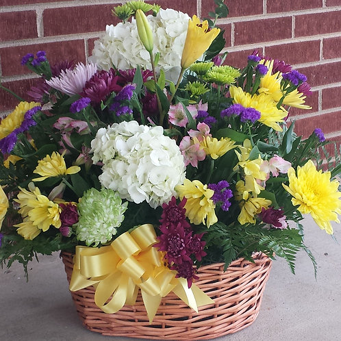 """Sympathy Basket - """"Fresh Cut Flower Basket"""""""