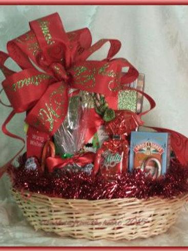 """Christmas Basket """"Merry Christmas To All"""""""