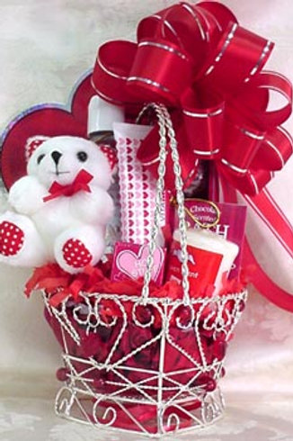 "Valentine's Day Basket - ""My Heart Beats For You"""