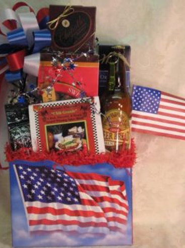 "Patriotic Basket - ""Welcome Home, Soldier"""