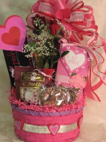 """Valentine's Day Basket - """"My Heart Belongs To You"""""""