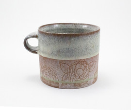 Purple Peony Mug