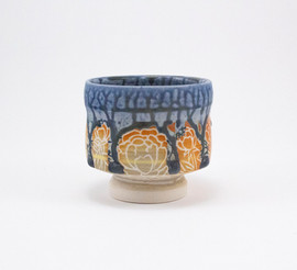 Drip Cup with Floral Design