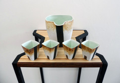 Pitcher and Cup Set with Display Table