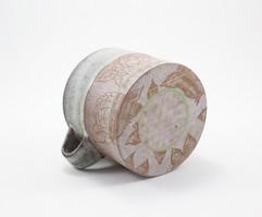 Purple Peony Mug Detail