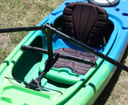 Hinged Mount in a Sit-in Kayak