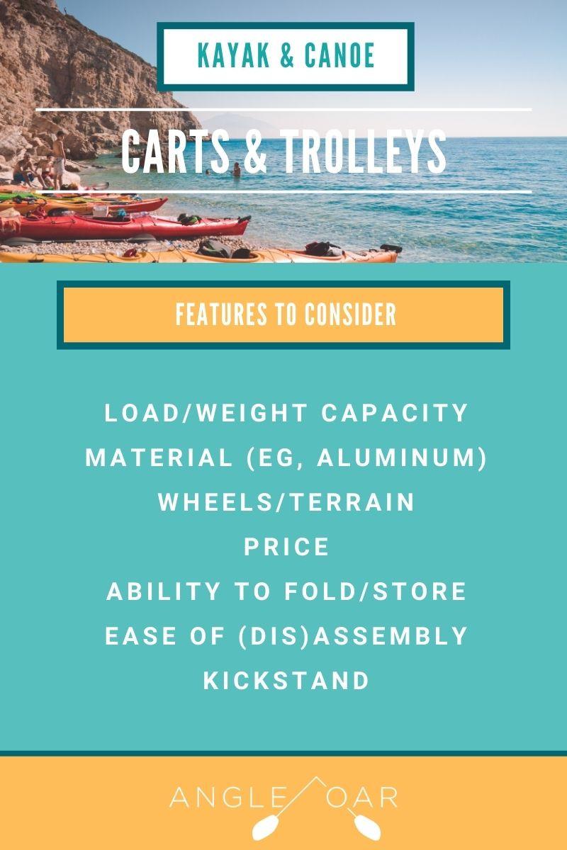 canoe cart kayak cart features