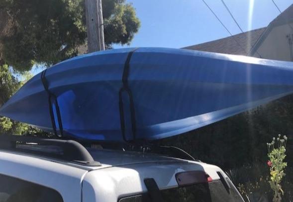 tie down straps on a kayak
