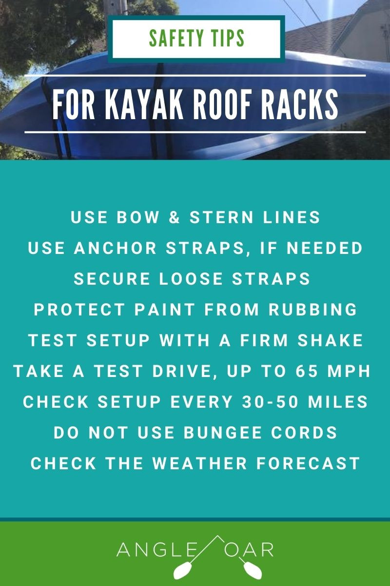 how to use transport kayak safely on a roof rack