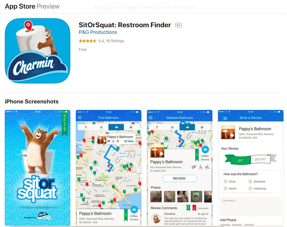 Interactive Marketing Content Tool - Charmin Sit or Squat App