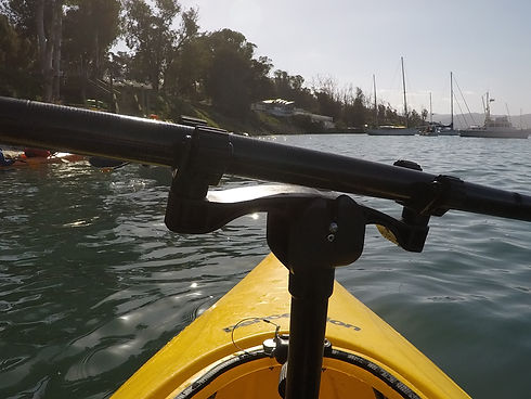 Sit on top kayak paddle holder
