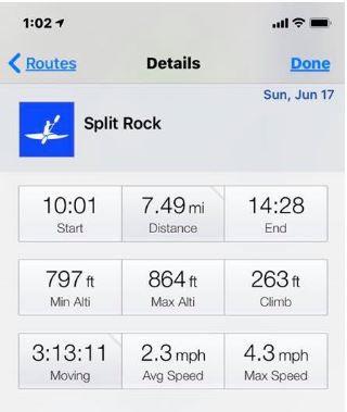 Routie kayaking tracking app