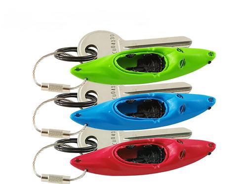 Kayak & Canoe Key Rings - Set of 3