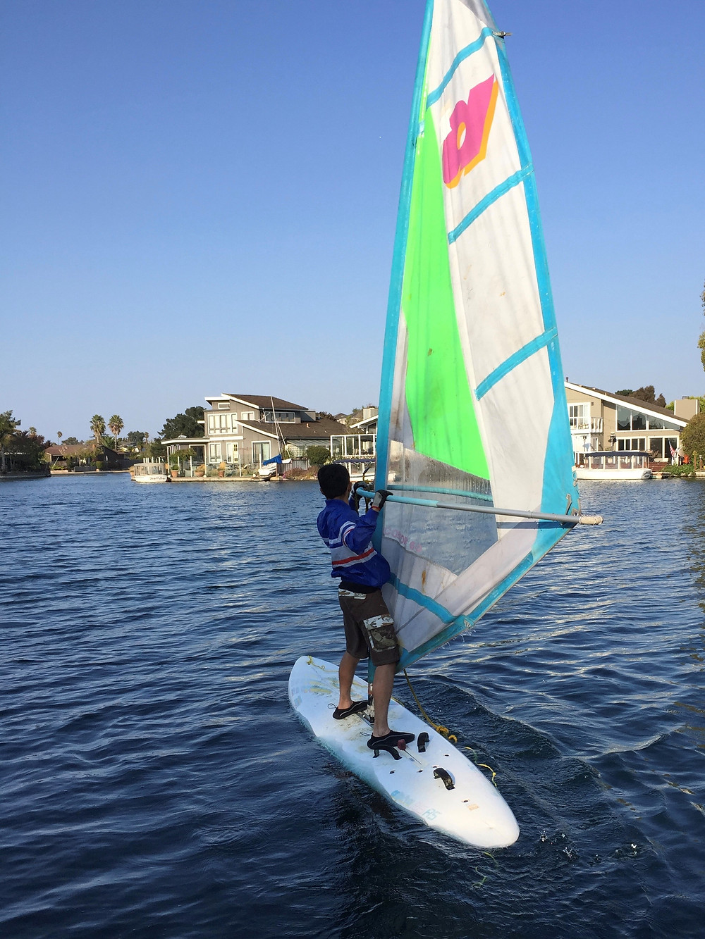 Raymond windsurfing