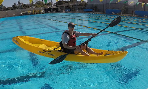 adapted kayak paddle for sit on top kayak