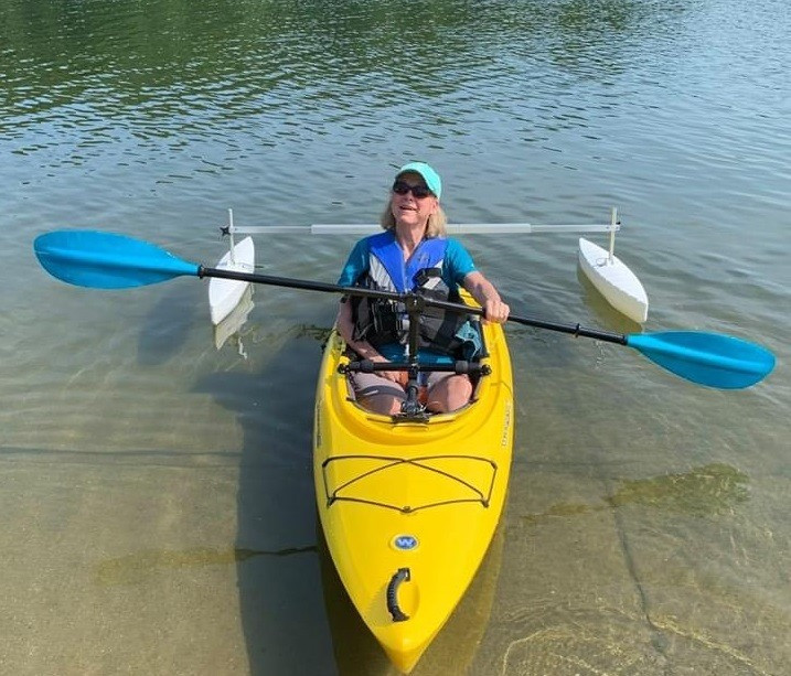 one handed kayak paddle and canoe outriggers