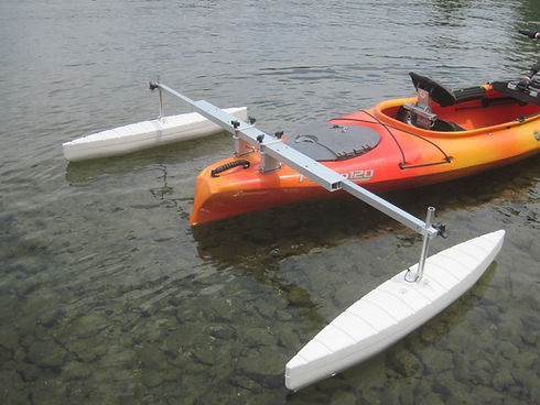 Kayak Outriggers Sold by Angle Oar