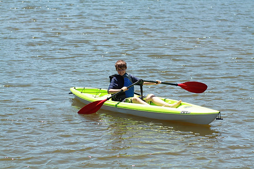 Versa Mount-Supported Kayak Paddle in Angled Position on SOT Kayak