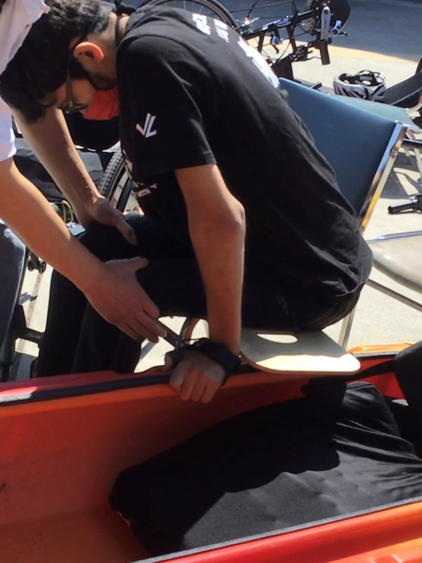 adaptive kayak transfer bench