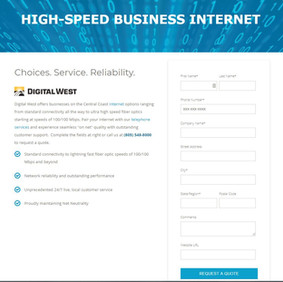 Landing Page - Digital West