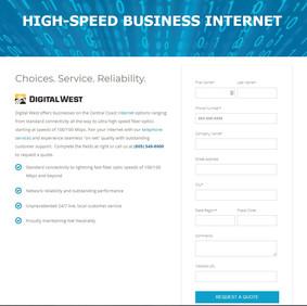 Landing Page - Digital West