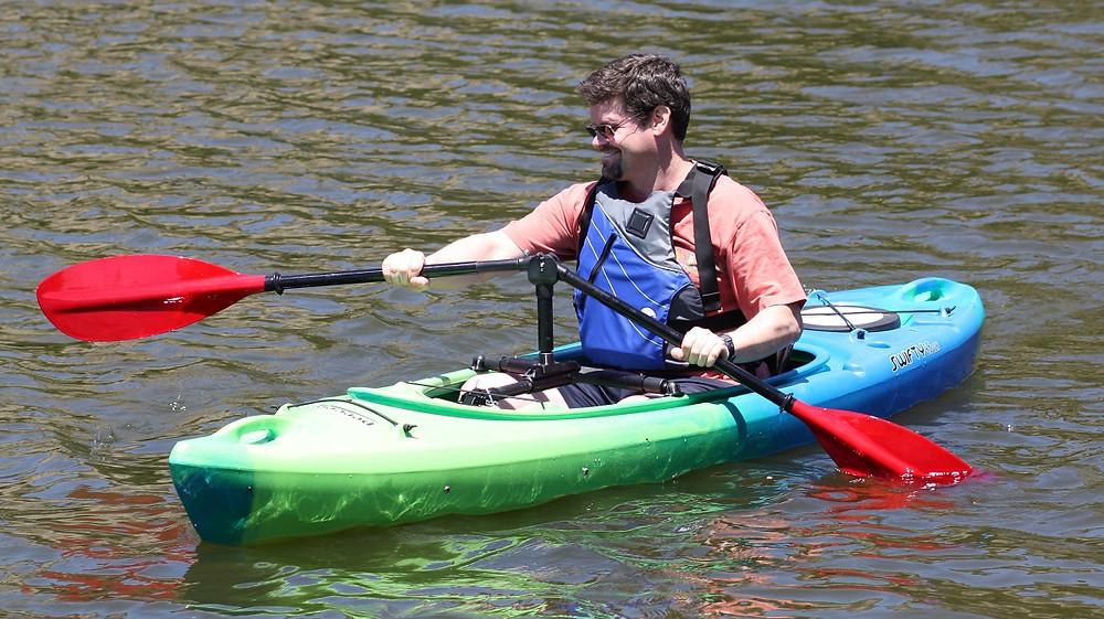 Angled kayak oar
