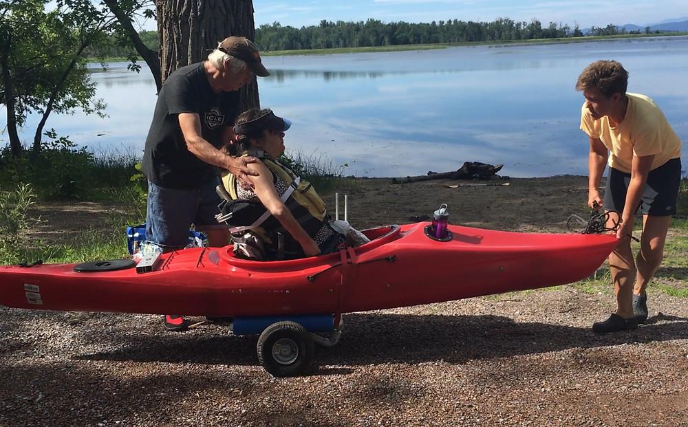 Adaptive Kayak Cart
