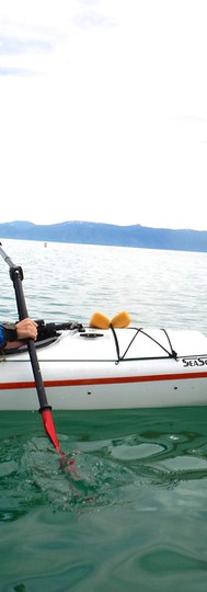 Amputee Paddling Versa with One Arm