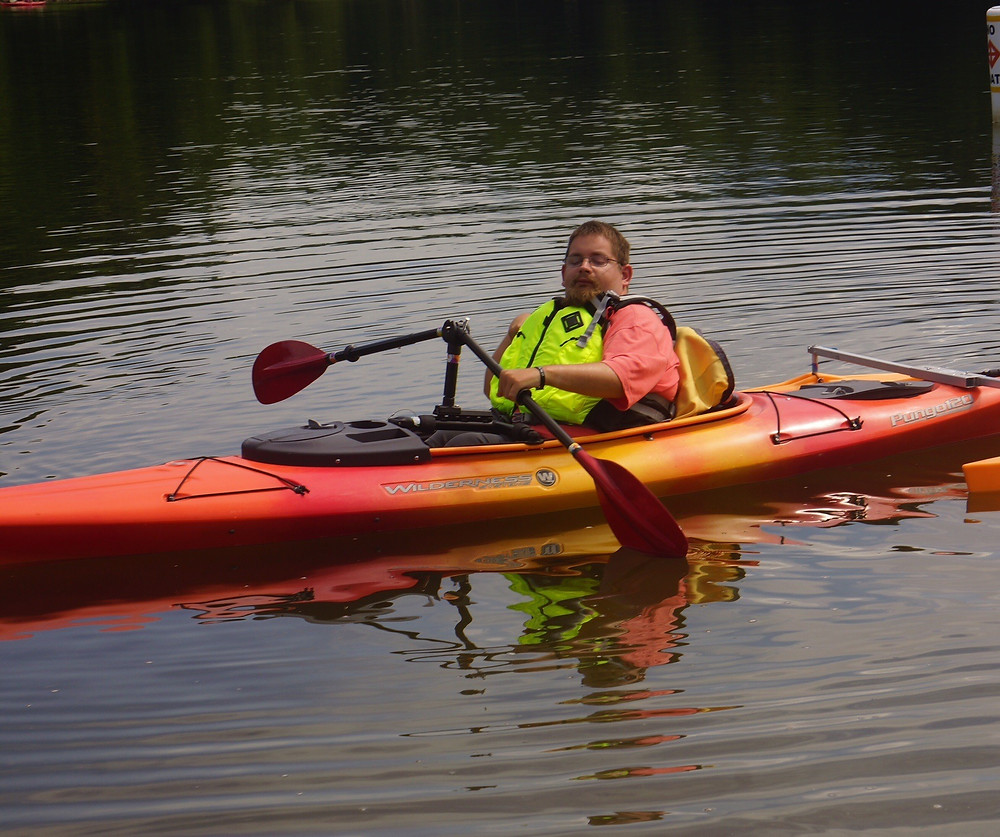 person with a disability kayaking
