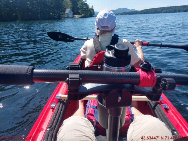 Gamut paddle holder in back