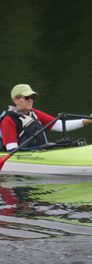 Stroke Survivor Paddling with One Hand