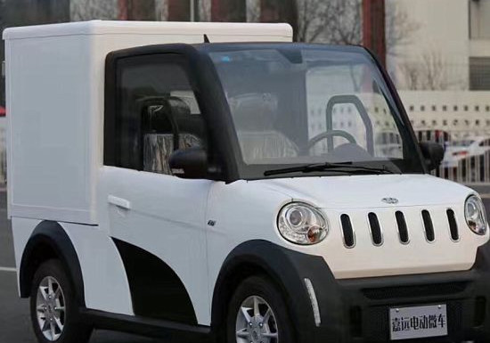 Small-Electric-Van-Cargo-Carrier-Four-Wh