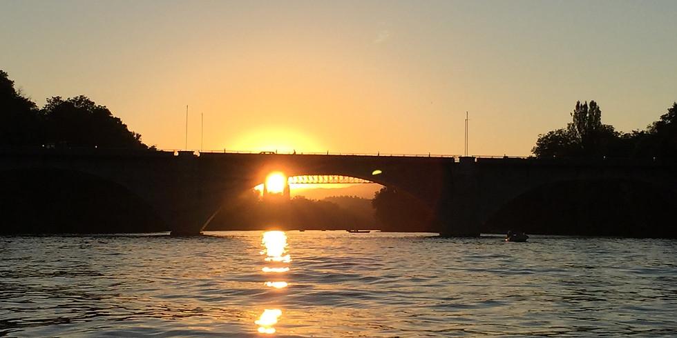 Silvester-Apéro auf der Rheinbrücke