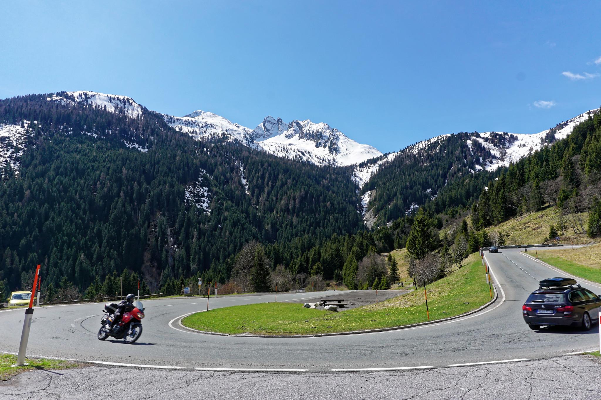 Kurve Gerlospass Motorradtour