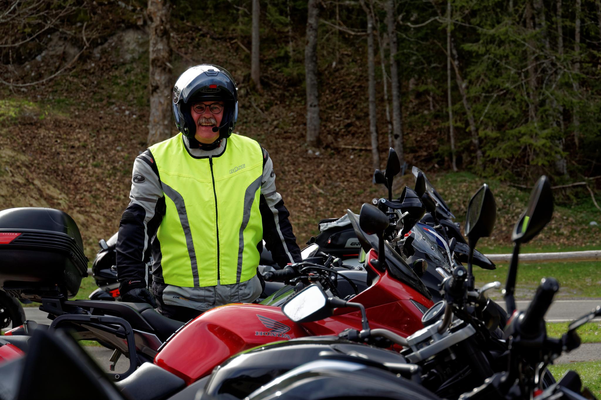 Gute Laune auf Motorradtour