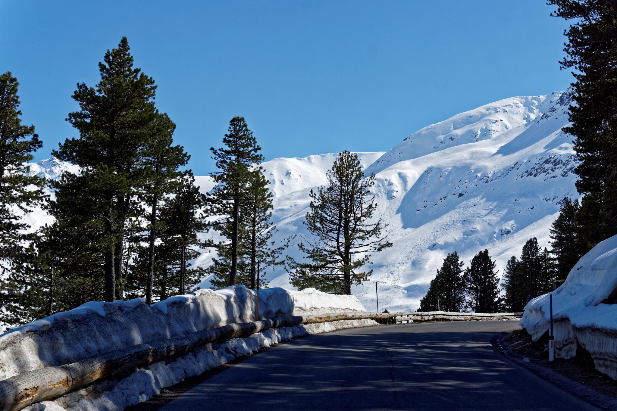 Motorradtour bei winterlichen Bedingunge