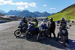 Mit dem Motorrad in den Bergen
