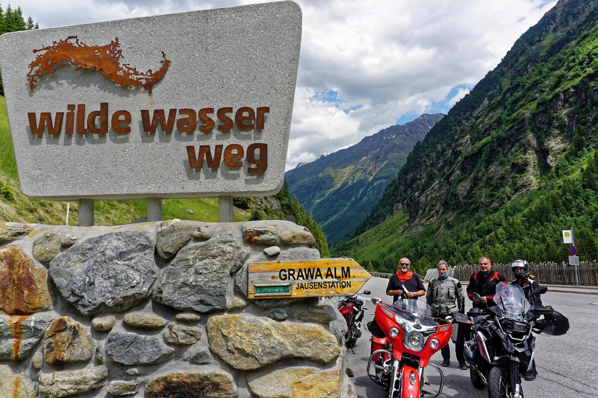 geführte Motorradtour Stubai