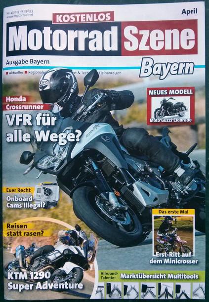 Bericht über ROOKiE-TOURS Motorradreisen in der April-Ausgabe von Motorrad Szene Bayern