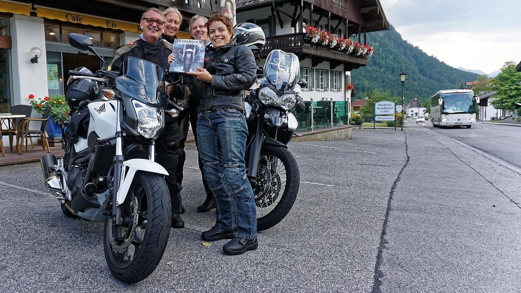 Teilnehmer mit Roadbook