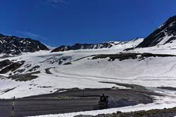 Ötztaler Gletscher mit dem Motorrad