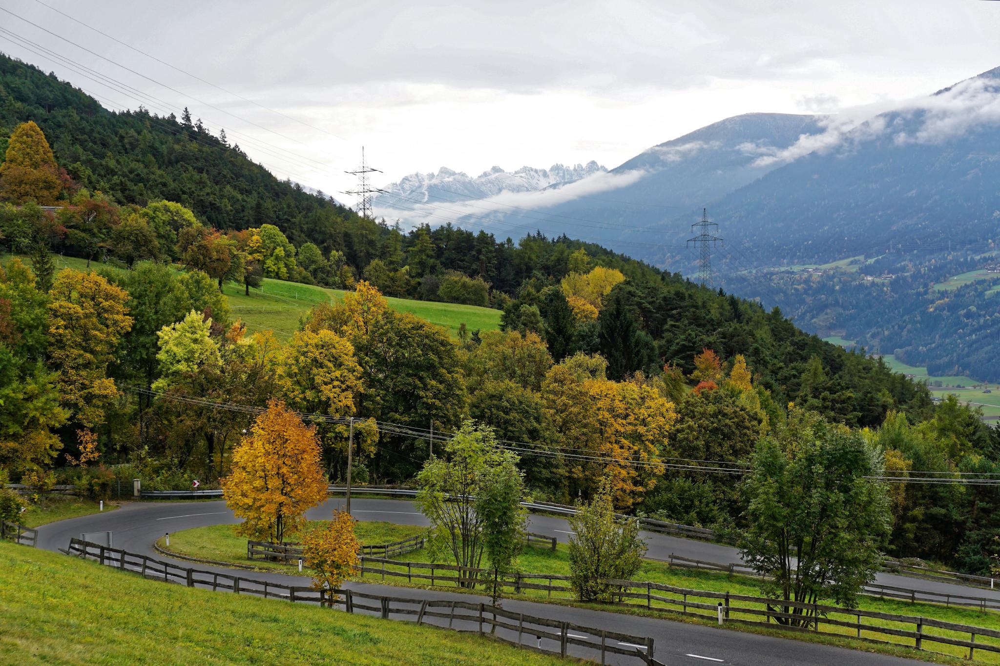 Fahrtraining in den Bergen