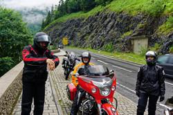 Motorradtraining im Regen