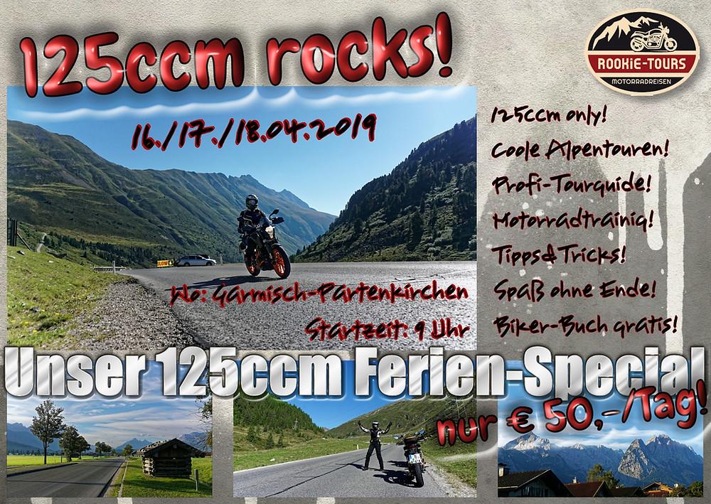 125ccm Motorradtouren mit Motorradtraining