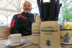 Pause Motorradtour Bräustüberl