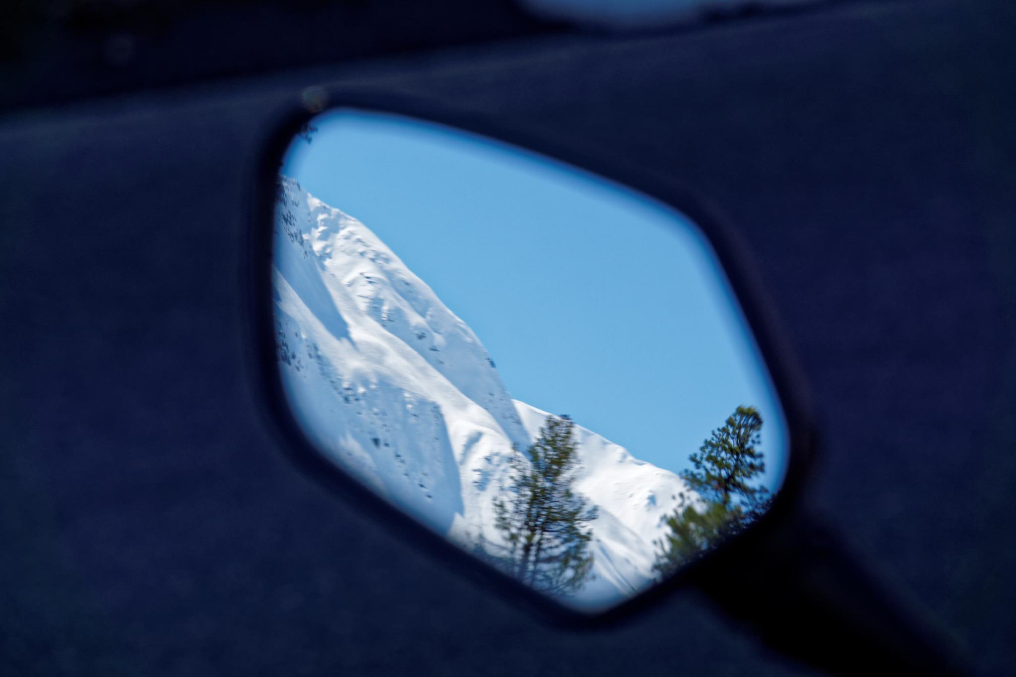 Rückspiegel-Blick auf den Gletscher